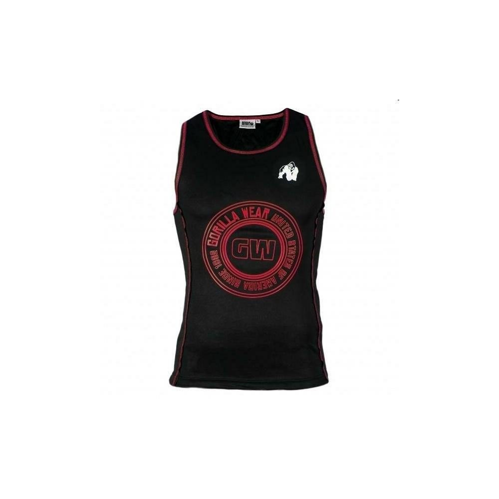 Gorilla Gw Kenwood Tank Top - Black/red-Xxxl