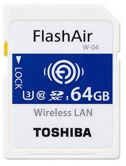 Toshiba SDHC FLASH AIR WIFI 64GB CLASSE 10 W-04 - WIRELESS CARD