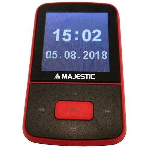 "Majestic Bt-8484r Lettore Mp3 Display 1,5"" Tft Memoria 8 Gb Radio Fm Bluetooth C"