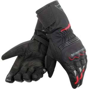 Dainese Tempest Unisex D-Dry Guanti moto lungo Nero Rosso 2XL