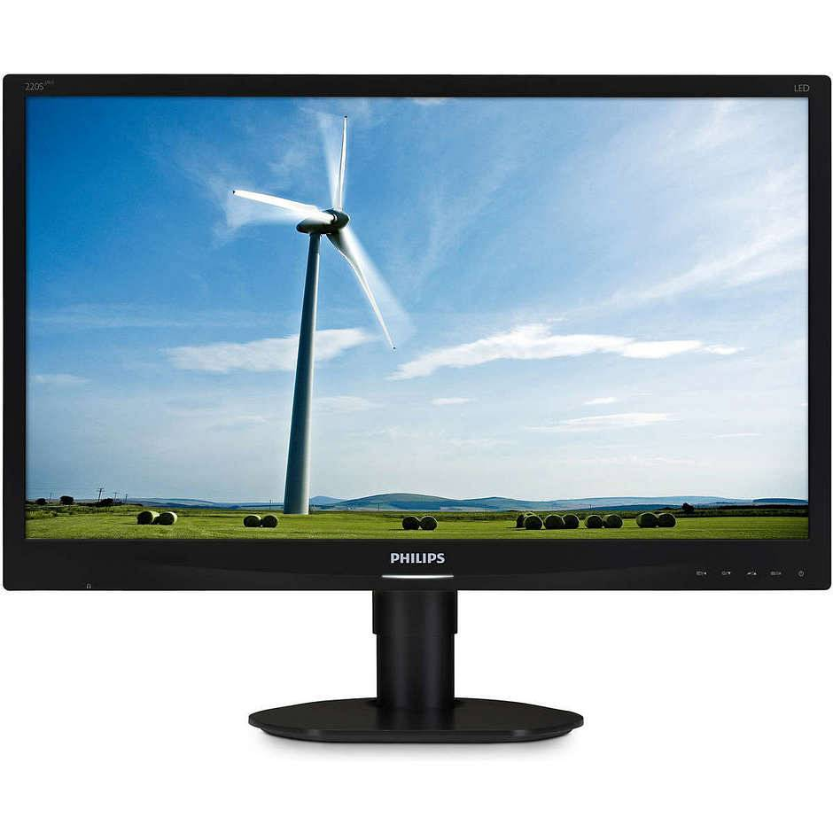 "Philips 220s4lycb/00 S Line Monitor Lcd 22"" Luminosità 250 Cd/m² Colore Nero"