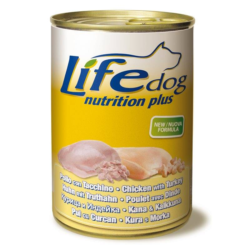 LIFE PET CARE Life Dog Nutrition Plus Pollo Con Tacchino 400 Gr.
