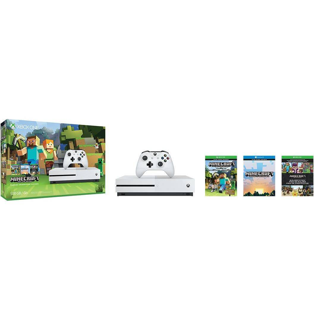 Microsoft Console Xbox One S 500 Gb White + Minecraft