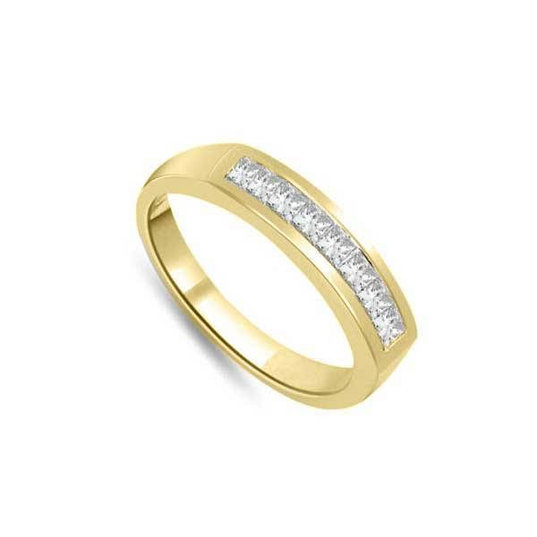 Infinity of London Mezza Veretta Anello 18ct Oro Giallo R202