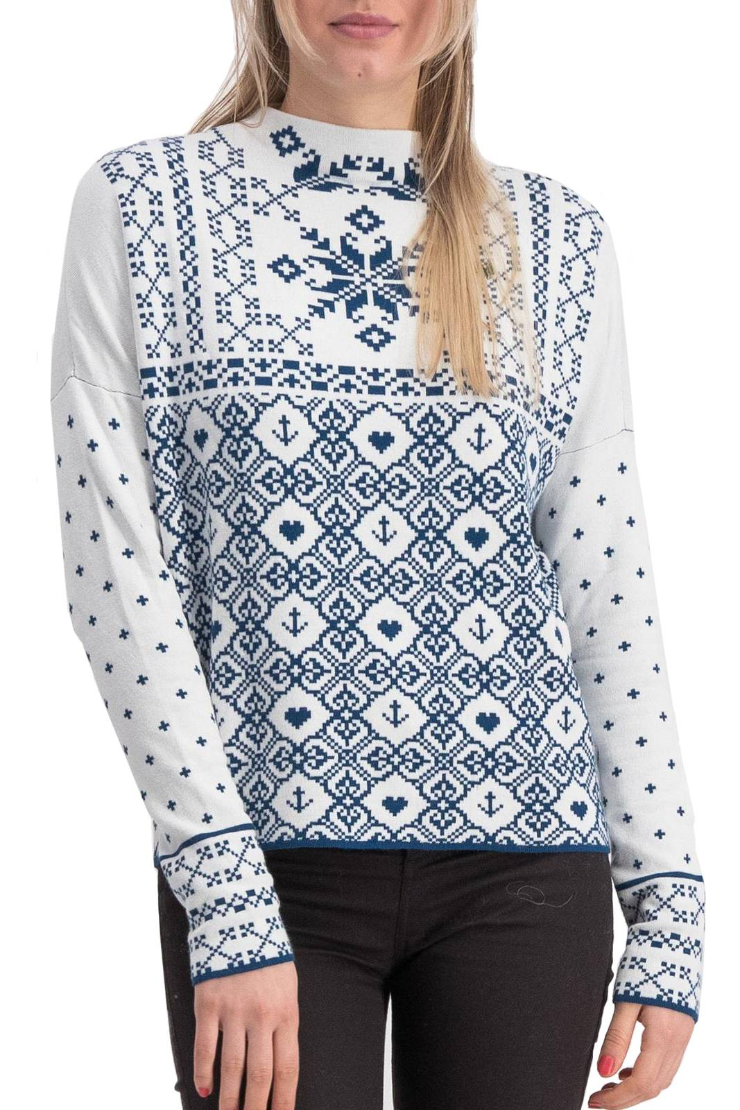 Blutsgeschwister maglione Cosy and Cool Pully Norwegian Snowflake - L