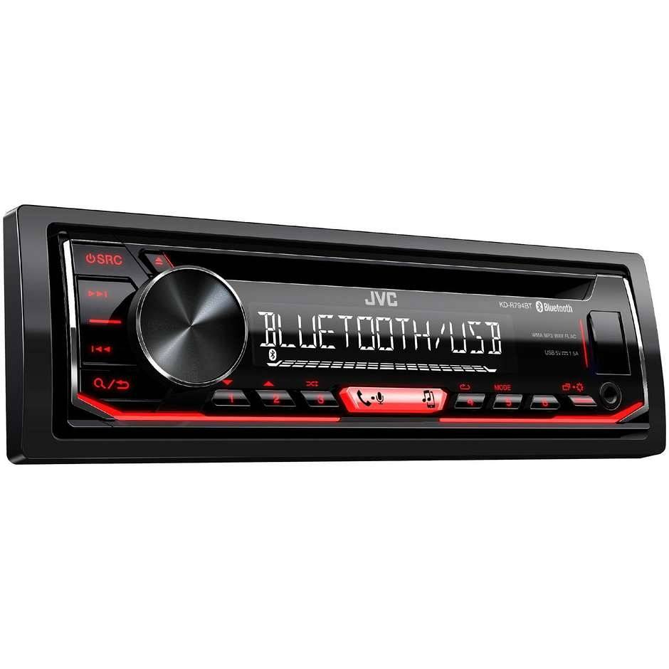 JVC Kd-R794bt Autoradio 1 Din Bluetooth Mp3 Radio Fm/am Usb - Aux In Colore Nero