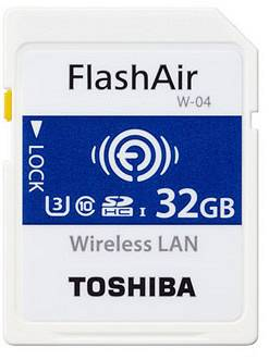 Toshiba SDHC FLASH AIR WIFI 32GB CLASSE 10 W-04 - WIRELESS CARD