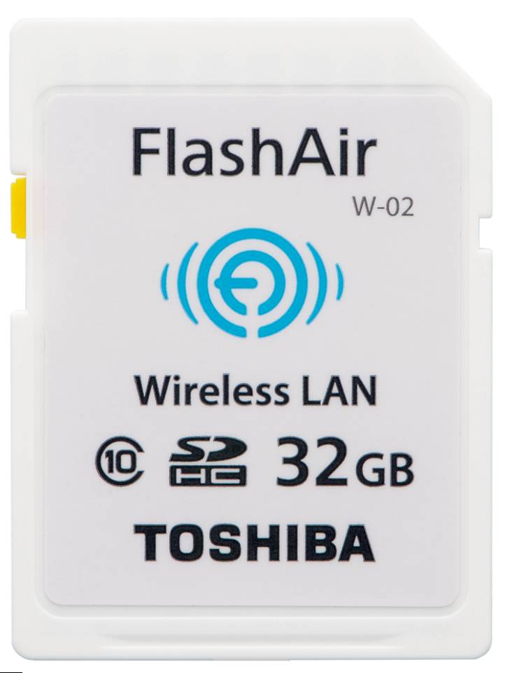 Toshiba SDHC FLASH AIR WIFI 32GB CLASSE 10 - WIRELESS CARD