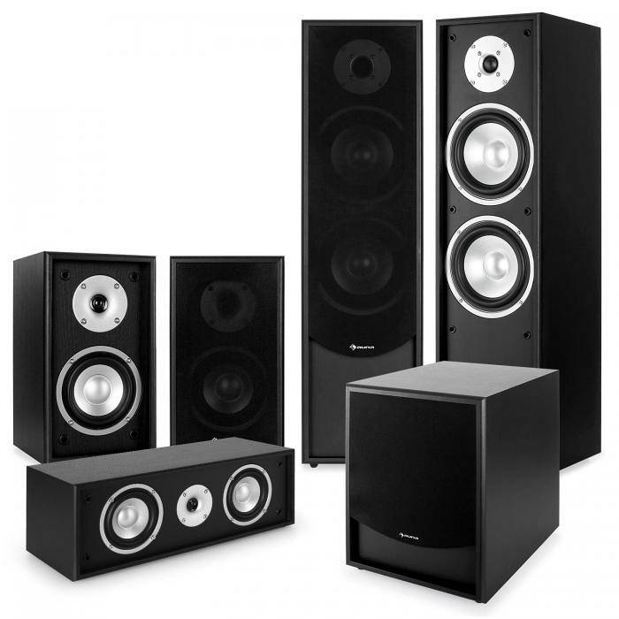 Auna Black-Line 5.1 Set Home Cinema Soundsystem nero